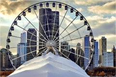 Inauguration de la Roue de Chicago